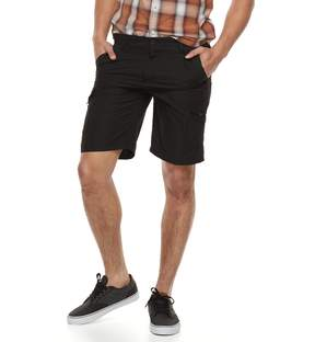 Burnside Men's Microfiber Cargo Shorts
