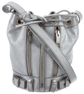 Saint Laurent Small Rider Moto Bucket Bag - METALLIC - STYLE