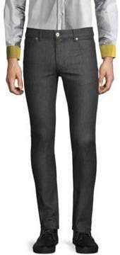 Moschino Metallic Logo Stretch Jeans