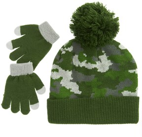 iXtreme Camo Beanie and Gloves Set (For Toddler Boys)