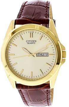 Citizen Men's BF0582-01P Gold Leather Quartz Fashion Watch