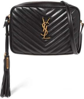 Saint Laurent Lou Medium Quilted Leather Shoulder Bag - Black