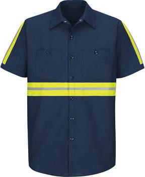 JCPenney Red Kap Short-Sleeve Visibility Shirt - Big & Tall