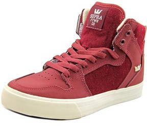 Supra Vaider Youth Round Toe Synthetic Burgundy Skate Shoe.