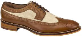 Johnston & Murphy Men's Conard Leather and Linen Wingtip Oxfords