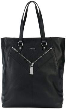 Diesel zip-detailed tote bag