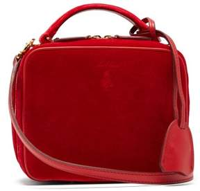 Mark Cross Baby Laura Velvet Cross Body Bag - Womens - Red