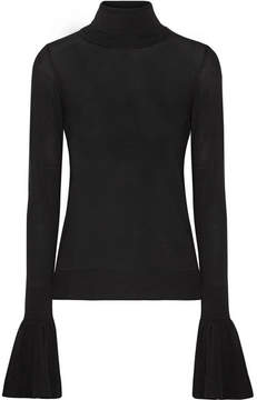 ADAM by Adam Lippes Merino Wool Turtleneck Sweater - Black