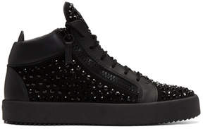 Giuseppe Zanotti Black Studded May London High-Top Sneakers