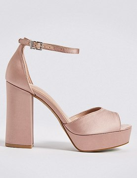 Marks and Spencer Block Heel Two Part Sandals