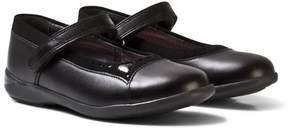 Start Rite Start-rite Black Leather Emelia Velcro Leather Shoes