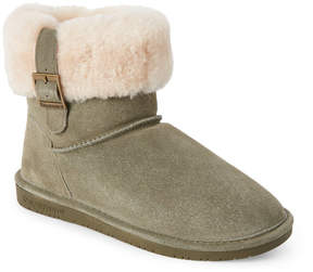 BearPaw Real Fur Olive Abby Boots