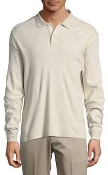 Black & Brown Black Brown Cotton Long-Sleeve Polo