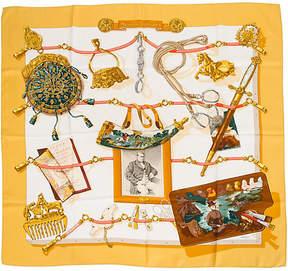 One Kings Lane Vintage Memoire d'HermAs Gold Scarf - Vintage Lux