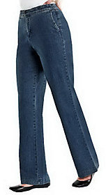 Denim & Co. As Is How Fitting Tummy Slimming Reg. Trousers Jeans