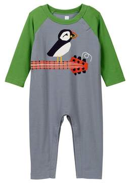 Tea Collection Puffin Rock Graphic Romper (Baby Boys)