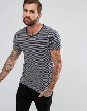 Lee Jeans Stripe Pocket T-Shirt in Fleck Navy