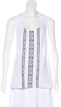 Ella Moss Embroidered Sleeveless Top w/ Tags