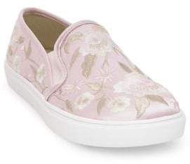 Betsey Johnson Esme Floral Embroidery Slip-On Sneakers
