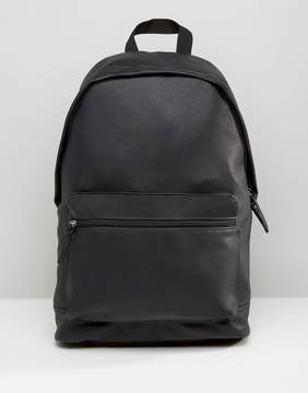 Asos Backpack In Grain Faux Leather