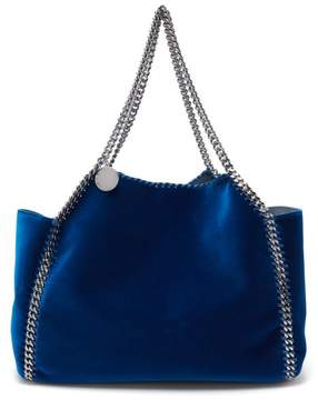 Stella McCartney Falabella Small Reversible Velvet Tote - Womens - Dark Blue