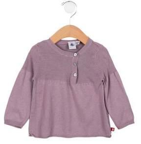 Petit Bateau Girls' Long Sleeve Knit Top