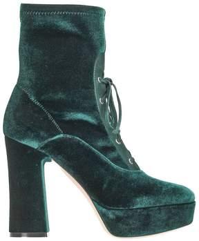 Lerre Green Velvet Ankle Boot