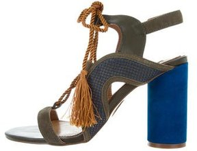 Jaggar Suede Lace-Up Sandals