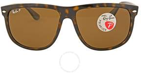 Ray-Ban RB4147 Polarized Brown Classic B-15 Sunglasses RB4147 710/57