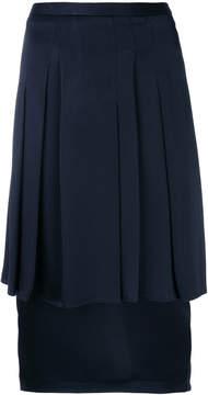 Chalayan pleated layered pencil skirt