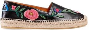 Gucci Embroidered leather espadrille