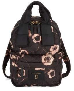 Marc Jacobs Contrast Floral Backpack - BLACK MULTI - STYLE