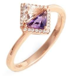 Bony Levy Women's Iris Double Triangle Diamond & Semiprecious Stone Ring (Nordstrom Exclusive)