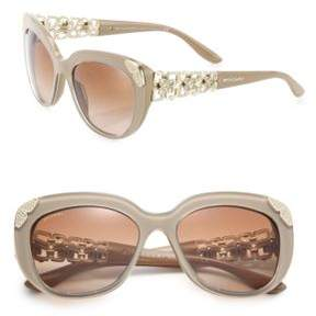 Bvlgari 55MM Crystal-Embellished Acetate & Metal Cat Eye Sunglasses