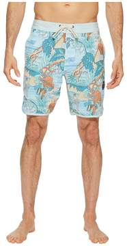 VISSLA Surfari Washed Four-Way Stretch Boardshorts 18.5 Men's Swimwear