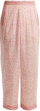 Masscob Wide-leg paisley-print cotton trousers