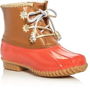 Jack Rogers Chloe Classic Metallic Trim Duck Boots