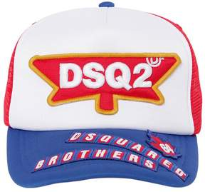 DSQUARED2 Dsq2 Patch Padded Cotton Trucker Hat