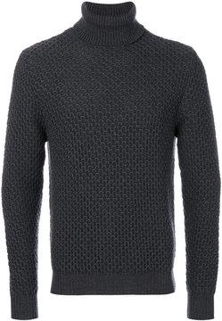Eleventy textured roll neck jumper