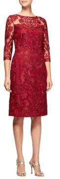 Alex Evenings Embroidery Shift Dress