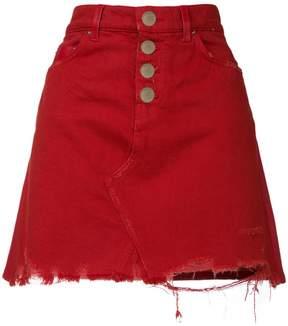Amiri distressed denim skirt