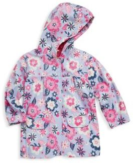 Hatley Little Girl's & Girl's Wintery Blooms Polyurethane Raincoat