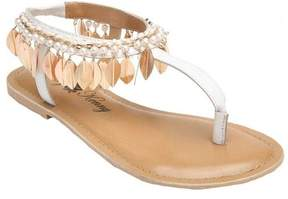 Penny Loves Kenny Women's Saffron Feather T-Strap Sandal