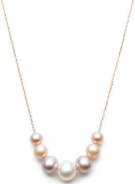 Belle de Mer Multi-Cultured Freshwater Pearl Frontal Necklace (6-9-1/2mm) in 14k Rose Gold