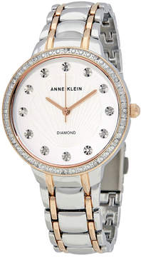Anne Klein Silvery White Crystal Dial Ladies Watch