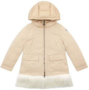 Moncler Fur Trim Coat