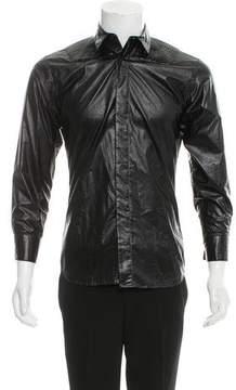 Christian Dior 2008 Geometric Pleated Shirt