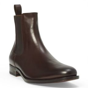 Ralph Lauren Belgrade Chelsea Boot Dark Brown 8.5 D