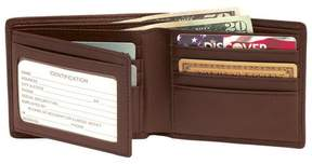 Royce Leather Royce RFID Blocking Genuine Leather Double ID Bifold Wallet - Coco