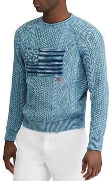 Polo Ralph Lauren Indigo Flag Crewneck Sweater